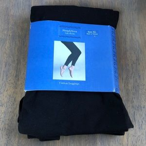 Vera Wang black cotton leggings, XL, NWT